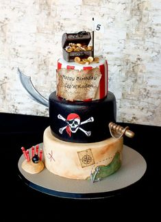 Awesome Image of Pirate Birthday Cakes . Pirate Birthday Cakes Pirate Birthd… Awesome Image of Pirate Birthday Cakes . Pirate Birthday Cakes Pirate Birthday Cake This Is A 3 Tier White Cake Covered In Lmf All Pirate Birthday Cake, 5th Birthday, Pirate Birthday Parties, Boy Birthday Cakes, Mermaid Birthday, Birthday Ideas, Pirate Ship Cakes, Pirate Ships, Caribbean Party