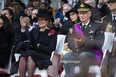 Queen Mathilde wears a black cloak from Natan Denmark Fashion, Cloak, Royals, Captain Hat, Queen, Weddings, How To Wear, Mantle, Wedding