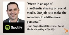 We're in an age of inauthentic sharing on social media.  Our job is to make the social world a little more personal.