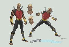 Redesign of Aqualad from DC's Young Justice. Marvel Dc, Marvel Comics, Superhero Design, My Superhero, Black Teen Pics, Aqualad Young Justice, Comic Books Art, Comic Art, Detective