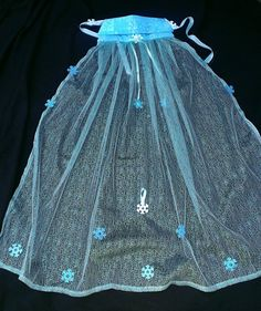 "Snow Queen Cape (""Queen Elsa from Frozen""-inspired): Premium Sparkle Fabric 60"" Length"