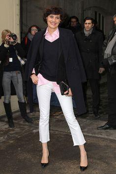 Ines de la Fressange at Chanel Spring 2013 show