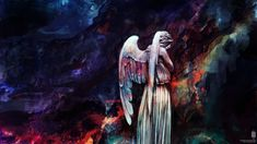 Weeping Angel - Colour Version by Alice X. Zhang