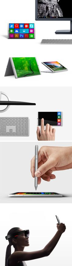 Centered around Microsoft's unique focus on creation and productivity, the Surface Phone introduces a beautifully-designed Surface product into the realm of smartphones. Following in the footsteps of the Surface tablet, the Surface Phone is powered by Continuum, and able to transition to a full-fledged desktop PC when equipped with a monitor and keyboard.