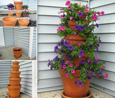 Clay Pot Flower Tower Is An Easy DIY You'll Love   The WHOot