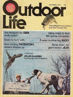 October 1976 Outdoor Life Magazine Upland Gamebird Hunting Tips Fishing Hunting