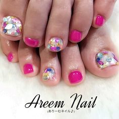 ネイルデザインを探すならネイル数No.1のネイルブック Cute Toe Nails, Cute Acrylic Nails, Feet Nails, Us Nails, Pedicure Nail Art, Toe Nail Art, Angel Nails, Nails For Kids, New Nail Designs
