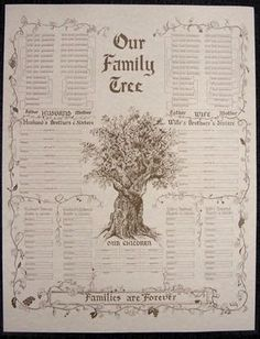 Family Tree Chart, Large Parchment