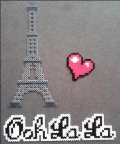 """Paris, mais oui"" perler bead design by Yazz"