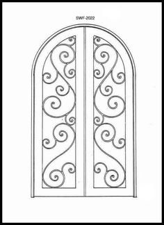 Pin by FOUAD MAZLOOM on DOORS | Pinterest | Sketches, Iron and Doors