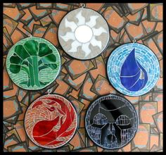 Stained-glass MTG Color symbols