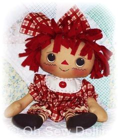 Cloth Doll PATTERN, Instant Download, PDF Rag Doll Pattern, Sewing Pattern, Digital Download. $9.00, via Etsy.