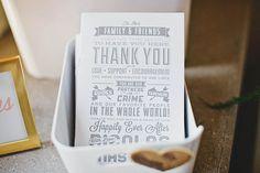 wedding thank you card http://www.weddingchicks.com/2013/10/07/alternative-wedding/