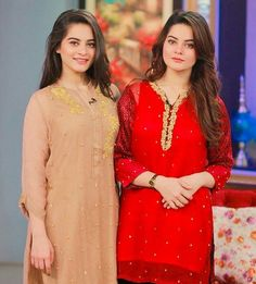 Recent click of Aiman Khan and Minal Khan in a morning show! - - #aimankhan #minalkhan #followus ✨