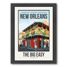 Americanflat Brooke Witt 'TravelPoster New Orleans' Framed Art Print