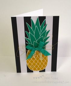 Pineapple Card :: Confessions of a Stamping Addict Lorri Heiling Pineapple Stamp