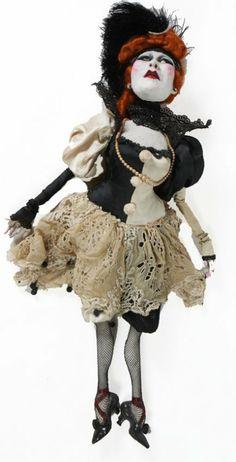 OOAK Doll - Van Craig Red-headed saloon girl
