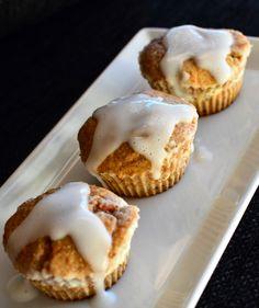 Gulrotmuffins med ostekrem