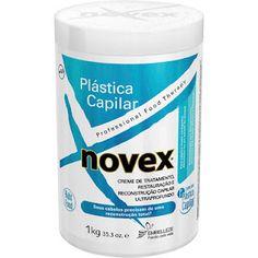 Creme de tratamento, restauração e reconstrução capilar ultraprofundo Novex Plástica Capilar.