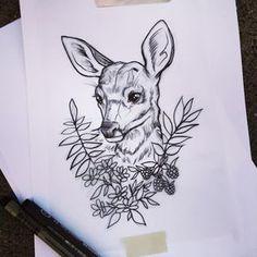 I like this but I'd want a buck not a doe and with colored plants