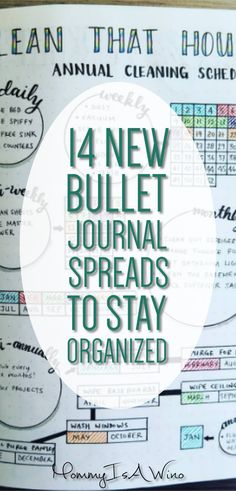 14 New Bullet Journal Spreads to Stay Organized - BuJo Inspiration, Bullet Journal Layouts, Planner Ideas