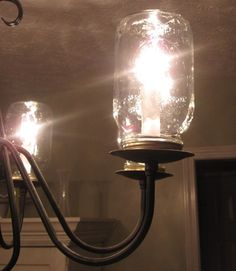 """""""Mason Jar Chandelier"""" off Chic for Cheap Interiors"""