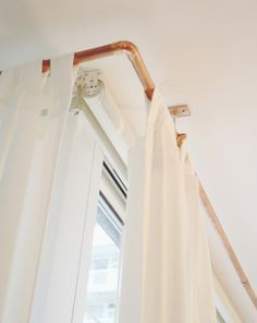 Copper Piping Curtain Rods Via Desiretoinspire