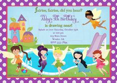 Tinkerbell Fairies Pool Party by graciegirldesigns77 on Etsy, $12.00