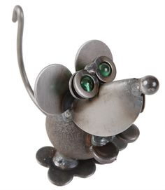 House Mouse Yard Art $32.50 - This fun little guy is made from recycled & scrap metals and perfect for the yard or your windowsill!