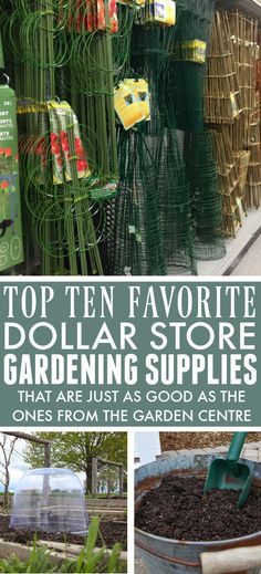 Dollar Store Gardening Supplies | The Creek Line House Outdoor Projects, Diy Projects, Garden Inspiration, Garden Ideas, Garden Centre, Outdoor Spaces, Outdoor Decor, Do It Yourself Projects, Gardening Supplies