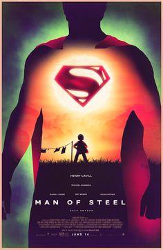 Man of Steel - movie poster - Nicolas Barbera