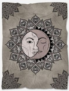 Provide warmth and comfort with this Sun and Moon Fleece Blanket. With its incredible design and vibrant colors, it will make your home even more beautiful. Not only that but it will make you feel extreme coziness with its soft and warm fabric. It is a perfect gift for someone you want to make happy and at the same time feel comfortable. It is handmade just for you and has a unique design that can't be found anywhere else. Boho Throw Blanket, Mandala Blanket, Mandala Throw, Polar Fleece Blankets, Make Happy, Blanket Sizes, Wall Tapestry, Vibrant Colors, The Incredibles