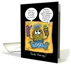 Happy Valentine's Day to Therapist-Socks Therapy-Sock Puppets card