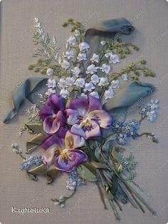 Silk ribbon embroidery