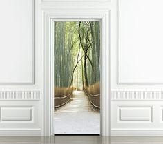 Trompe l'oeil door. Giant stickers from 'Style your door' for interior doors, windows and walls.