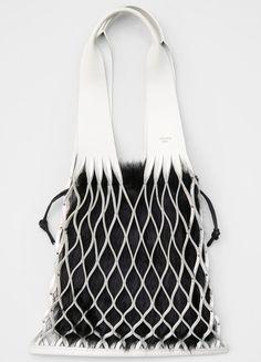 Medium Net Bag Bag in Calfskin - セリーヌについて Basket Bag c050ef7d4517f