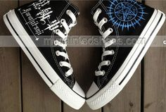 anime shoes Black Butler Shoes hand painted sneakers