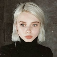 White-Blonde-Hair-Color Trendy Hair Colors for Short Hair for Ladies hair blonde New Hair, Your Hair, White Blonde Hair, Short White Hair, Bleach Blonde Hair, Short Bob Hair, Platnium Blonde Hair, Straight Hair Bob, Blonde Short Hair