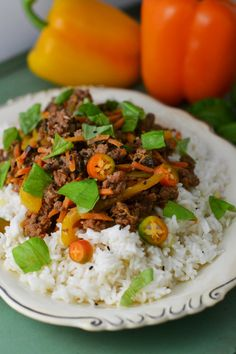 This Spicy Thai Basil Beef is so delicious you'll hardly believe how easy it is to make! Pair it with lemongrass coconut rice for the ultimate flavor! Ground Beef Recipes Easy, Fun Easy Recipes, Quick Dinner Recipes, Fall Recipes, Delicious Recipes, Whole Food Recipes, Healthy Recipes, Easy Weeknight Meals, Easy Meals