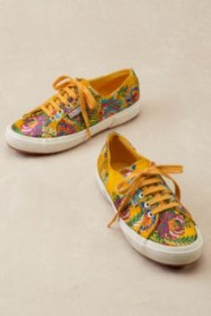 Superga Mandarin Sneakers from Soft Surroundings Casual Shoes, Casual Outfits, Casual Clothes, Superga Sneakers, Floral Sneakers, Soft Surroundings, Passion For Fashion, Things That Bounce, Espadrilles