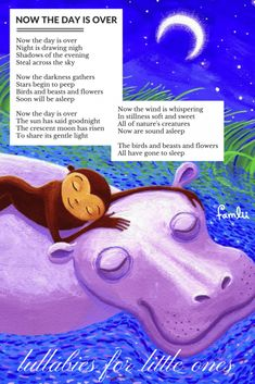Now the Day is Over: A Welsh Lullaby - Famlii Kindergarten Songs, Preschool Songs, Kids Songs, Baby Songs Lyrics, Lullaby Songs, Nursery Rhymes Lyrics, Nursery Songs, Rhymes For Kids, Children Rhymes