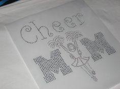 Cheer Mom Diy Heat Transfer in BLING by cthorses66 on Etsy, $6.99