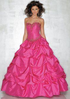 hot pink brides maid dresses   Big Pink Wedding Dress Designs For Girls