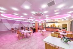 Sufit napinany w barwie wrzosu :) / A stretch ceiling in the color of heather :)