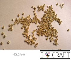 100 Metal Beads Gold and Silver 15mm hole by IlovelyCraft on Etsy, €2.50