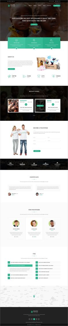 Mainz is a wonderful #PSD Template suitable for #webdev all types of #Charity website with 3 homepage layouts and 20 organized PSD pages download now➩ https://themeforest.net/item/mainz-charity-psd-template/19161447?ref=Datasata