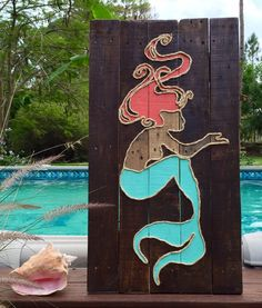 Hey, I found this really awesome Etsy listing at https://www.etsy.com/listing/216679102/handmade-mermaid-with-rope-beach-pallet