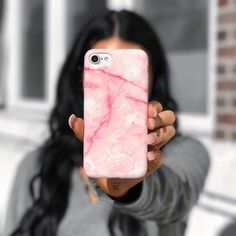 Pink Streak  feels today 📱available for iPhone 5, 6, 6+, 7 & 7+ 👆🏼link is in our bio #velvetcaviar 🌙 @velvetcaviar 's custom marble cases are soft, high grade flexible material. Protects your phone from all sides, access to all ports! Features a front raised lip, no more cracked screens! Same day & super fast shipping. velvetcaviar.com