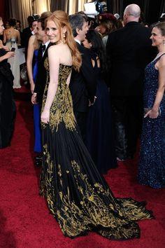 Jessica Chastain in Alexander McQueen (Oscars 2012)