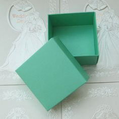 Mint Robin Blue Gift Bag Favour Bag Square paper wedding decor favour bag-birthday party decor (per 10) by sophieliu2 on Etsy